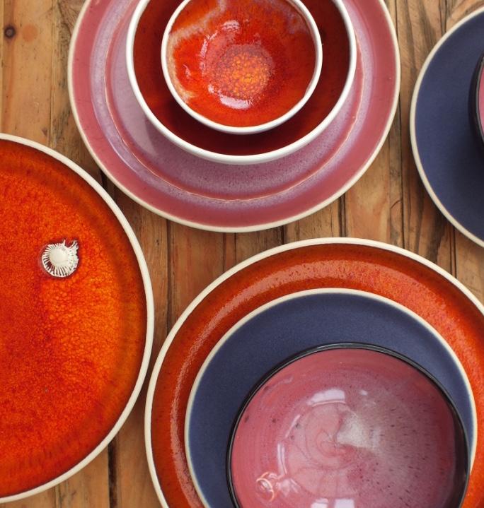 Glaze colour combinations