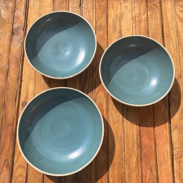 Set of three Turquoise Dishes