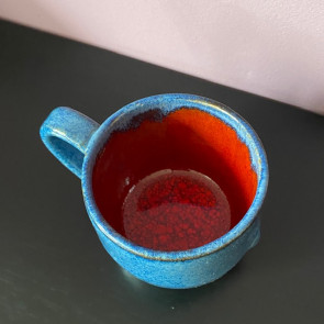 Blue Chun and Burnt Orange Mug