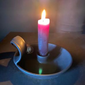Candlestick in Volcanic Black Glaze