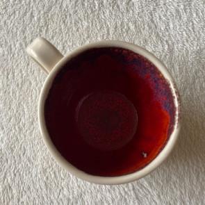 Burnt Orange and Cream Mug
