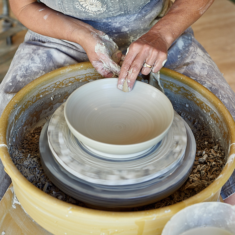 All ceramics are hand thrown by Gill