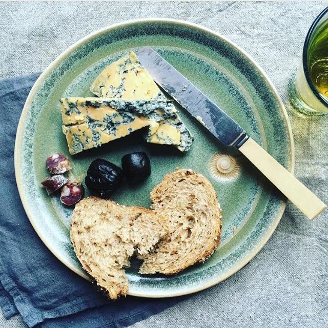 Meadow Green Dessert Plate