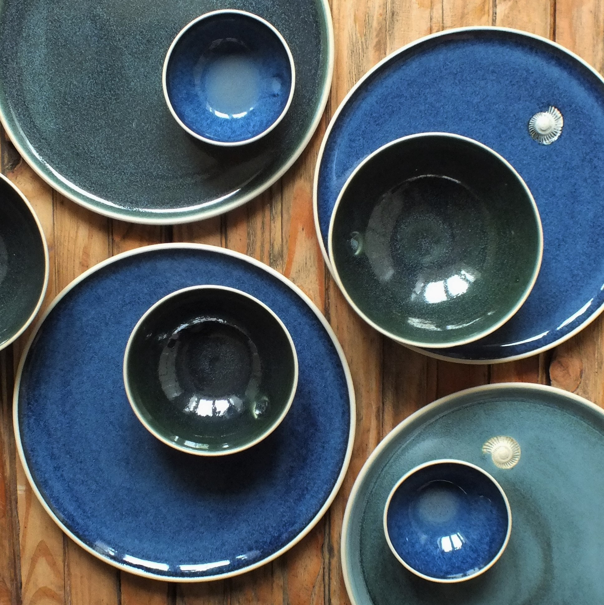 Blue and Green Glazes
