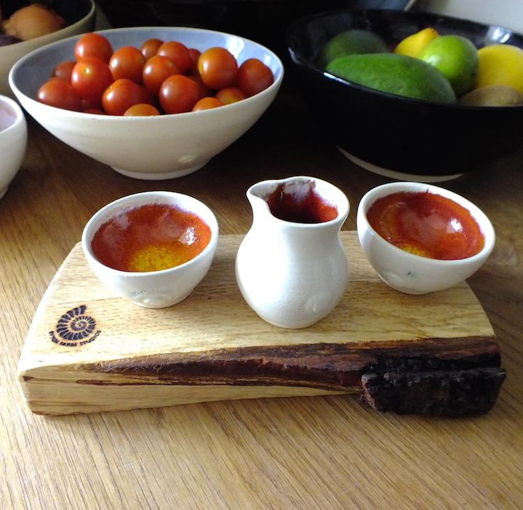 Condiment Set in Burnt Orange